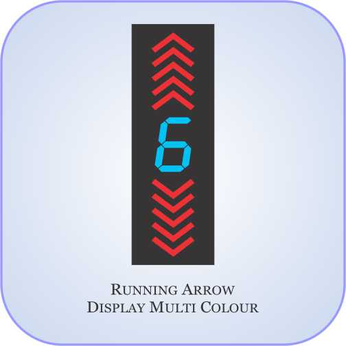 Running Arrow Display Multi Colour